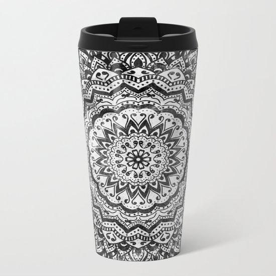 BLACK JEWEL MANDALA Metal Travel Mug