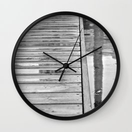 Down On The Dock Wall Clock
