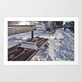Winter in park Art Print
