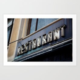 Detroit: Restaurant Art Print