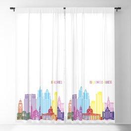 Buenos aires skyline pop v2 Blackout Curtain