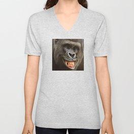 Smiling Gorilla (^_^) Unisex V-Neck