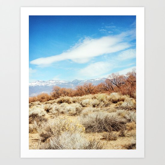 View of the Sierra Nevada Mountains from Highway 395 Art Print