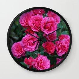 Pink Charm Roses Wall Clock