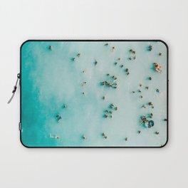 Beach Photography, Aerial Blue Ocean Print, Large Turquoise Ocean Poster, Coastal Wall Art, Beach Laptop Sleeve