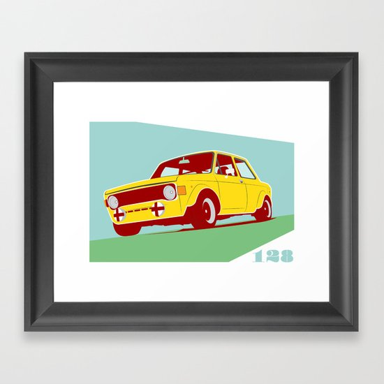 Fiat 128 Framed Art Print