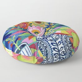 Late Summer Blooms Floor Pillow