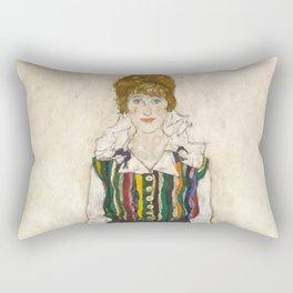 "Egon Schiele ""Portrait of Edith Schiele, the artist's wife"" (1915) Rectangular Pillow"