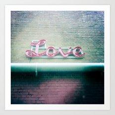 Sign of Love Art Print