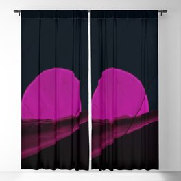 minimal art Blackout Curtain