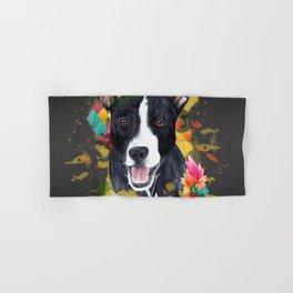 Black pup Hand & Bath Towel