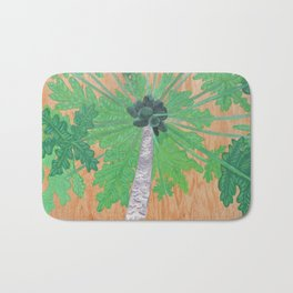 Papaya Tree Bath Mat