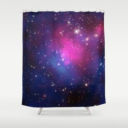 Dark Matter and Galaxies in a Cluster Shower Curtain