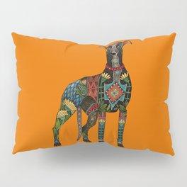 greyhound orange Pillow Sham