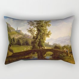 View of Italian Comune Montesarchio Jakob Philipp Hackert Rectangular Pillow