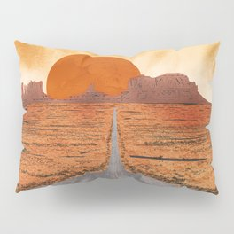 Monument Valley watercolor Pillow Sham