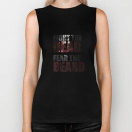 Fight the Dead, Fear the Beard Biker Tank