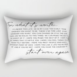 for what it's worth Rectangular Pillow