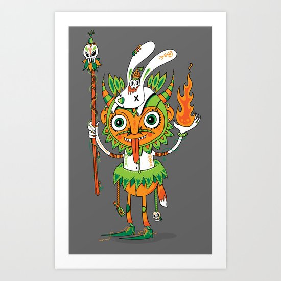 The Hoodoo Man Art Print