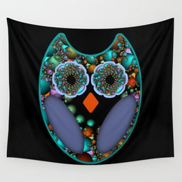Fractal Owl Wall Tapestry