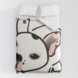 French Bulldog Pup Drawing Comforters