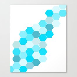 Honeycomb - Turq Canvas Print