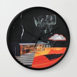 Dusk in the Flats Wall Clock