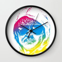 Colorful Unabomber Wall Clock