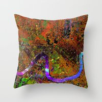 new orleans Throw Pillows featuring new orleans by donphil