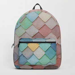 Pastel Colored Roof Tiles (Color) Backpack