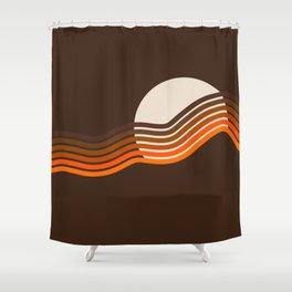 Sundown Stripes Shower Curtain