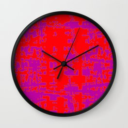 jitter, red violet, 3 Wall Clock