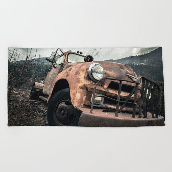 Rusty Road Beach Towel