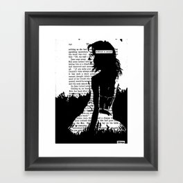 Without a Sound Framed Art Print