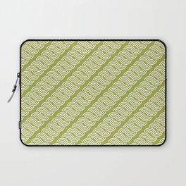 shortwave waves geometric pattern Laptop Sleeve