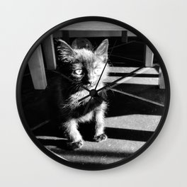 Scruffy Cat Wall Clock