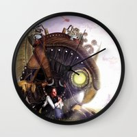 bioshock Wall Clocks featuring Bioshock Infinite: The SongBird by GIOdesign