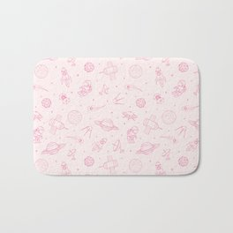 Pink Space Pattern Bath Mat