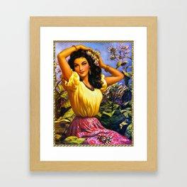 CALENDAR GIRL JESUS HELGUERA Framed Art Print