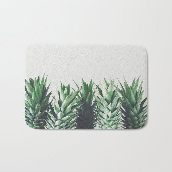Pineapple Leaves Bath Mat