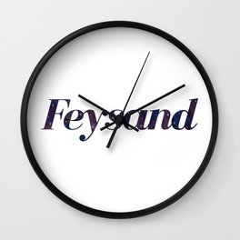 Feysand galaxy design white Wall Clock
