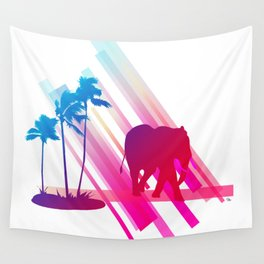 Neon Elephant Wall Tapestry