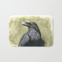 Proud Raven - Watercolor Bath Mat