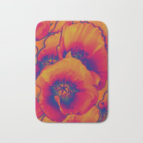 Poppies(vintage)3 Bath Mat
