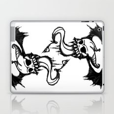 winged skull and tongue Laptop & iPad Skin