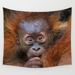 Extraordinary Animals - Orang Baby Wall Tapestry