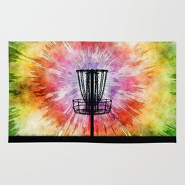 Tie Dye Disc Golf Basket Rug