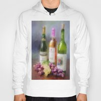 wine Hoodies featuring Wine Time by Mary Timman