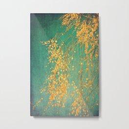 Whispers of yellow - tree Metal Print