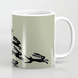 rabbits in the race Coffee Mug